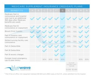 Medicare Supplement Plan G Benefit Chart